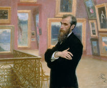 Portrait of Pavel Tretyakov in the Gallery von Ilya Efimovich Repin