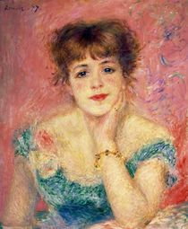 Portrait of the actress Jeanne Samary by Pierre-Auguste Renoir