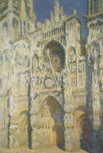 Rouen Cathedral in Full Sunlight: Harmony in Blue and Gold von Claude Monet