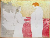 Woman in Bed, Profile - Waking Up by Henri de Toulouse-Lautrec