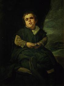 The Court Dwarf, Don Franciso Lezcano called 'El Nino de Vallecas' by Diego Rodriguez de Silva y Velazquez