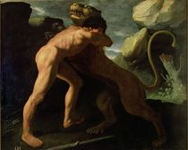 Hercules Fighting with the Nemean Lion von Francisco de Zurbaran