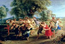 A Peasant Dance, 1636-40 von Peter Paul Rubens