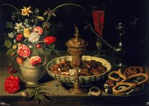 Still Life of Flowers and Dried Fruit von Clara Peeters