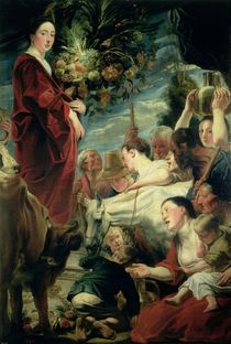 An Offering to Ceres, Goddess of the Harvest by Jacob Jordaens