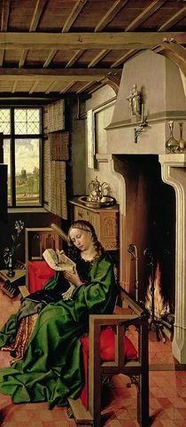St. Barbara from the right wing of the Werl Altarpiece by Master of Flemalle