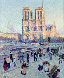 Le Quai St. Michel and Notre Dame von Maximilien Luce