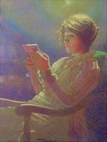 Woman Reading, 1921 by Kamir-Kaufman