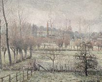 Snow Effect at Eragny, 1894 by Camille Pissarro