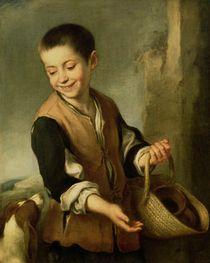Boy with a Dog, c.1650 von Bartolome Esteban Murillo