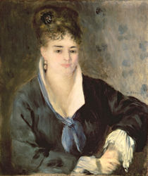 Lady in Black, c.1876 by Pierre-Auguste Renoir