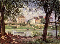 Villeneuve-la-Garenne, or Village by the Seine by Alfred Sisley