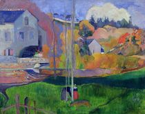 Brittany Landscape: the David Mill by Paul Gauguin