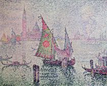 The Green Sail, Venice, 1904 by Paul Signac