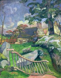 The Wooden Gate or, The Pig Keeper von Paul Gauguin