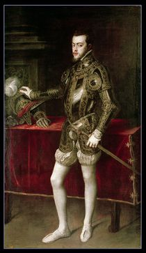 King Philip II 1550 by Titian