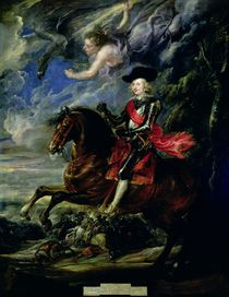 The Cardinal Infante Ferdinand at the Battle of Nordlingen von Peter Paul Rubens