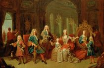 The Family of Philip V of Bourbon by Jean Ranc