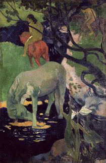 The White Horse, 1898 by Paul Gauguin