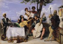 The Venetian Concert by Alexandre-Jean-Baptiste Hesse