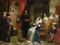 Marie de Medici Visiting the Studio of Rubens by Claude Jacquand