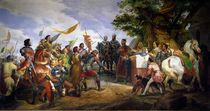 The Battle of Bouvines, 27th July 1214 by Emile Jean Horace Vernet
