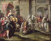 The Triumph of David, c.1690 von Peter van Lint