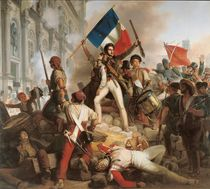 Fighting at the Hotel de Ville von Jean Victor Schnetz