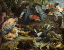 Hunting a Wild Boar, c.1615-16 von Peter Paul Rubens