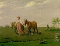 Ploughing in Spring, 1820s von Aleksei Gavrilovich Venetsianov