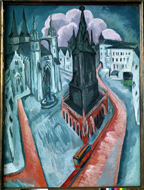 The Red Tower in Halle, 1915 by Ernst Ludwig Kirchner