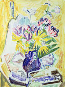 Flowers in a Vase, 1918-19 by Ernst Ludwig Kirchner