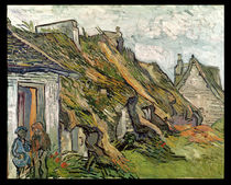 Thatched Cottages in Chaponval von Vincent Van Gogh