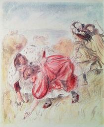 Young Girls Playing von Pierre-Auguste Renoir