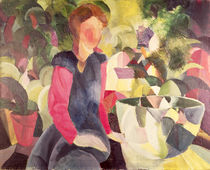 Girl with a Fish Bowl, 20th century von August Macke