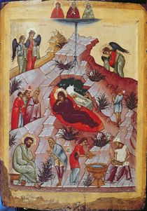 The Nativity, Russian icon by Russian School