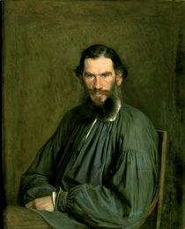 Portrait of Count Lev Nikolaevich Tolstoy 1873 by Ivan Nikolaevich Kramskoy