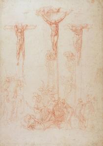 Study of Three Crosses by Michelangelo Buonarroti