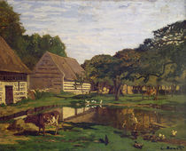 A Farmyard in Normandy, c.1863 by Claude Monet