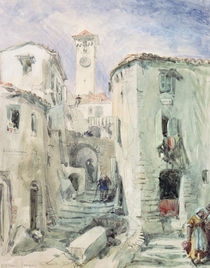 The Old Tower at Cannes, 1870 by William 'Crimea' Simpson