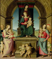 The Family of St. Anne, c.1507 by Pietro Perugino