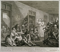 Plate VIII from A Rake's Progress by William Hogarth