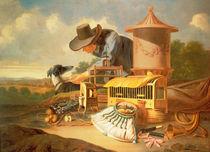 A Birdcatcher and His Dog von Antonius Leemans