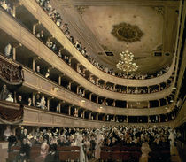 The Auditorium of the Old Castle Theatre by Gustav Klimt