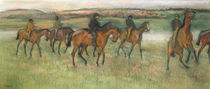 Racehorses von Edgar Degas