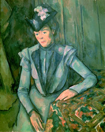 Woman in Blue 1900-02 by Paul Cezanne