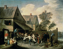 A Country Dance von David the Younger Teniers