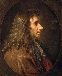 Portrait of Moliere 1660 by Charles Le Brun