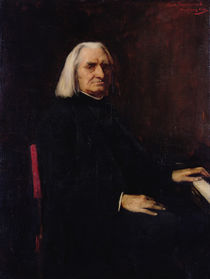 Portrait of Franz Liszt 1886 von Mihaly Munkacsy