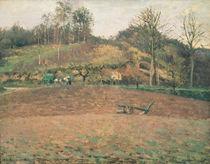 Ploughland, 1874 von Camille Pissarro